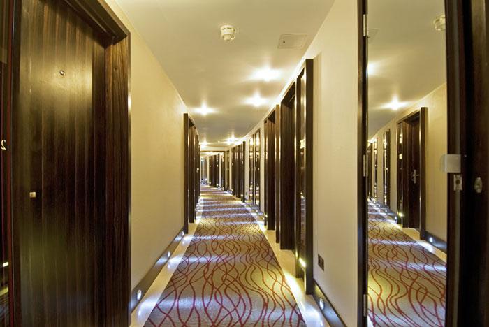 Hotel door corridor