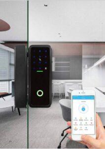 HLSA9 Smart Glass Door Lock Image